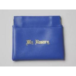 Rosary Purse:Push Pocket Blue