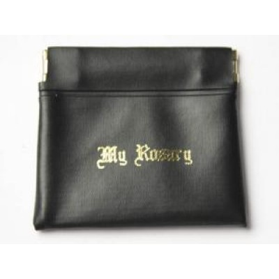 Rosary Purse:Push Pocket Black