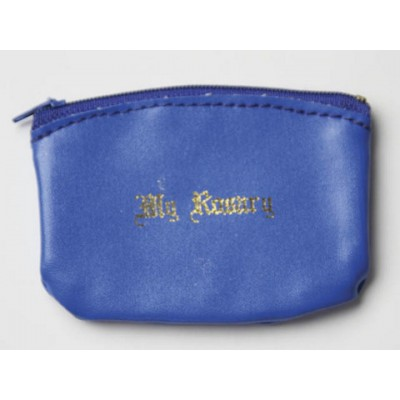 Rosary Purse:Zipper Blue