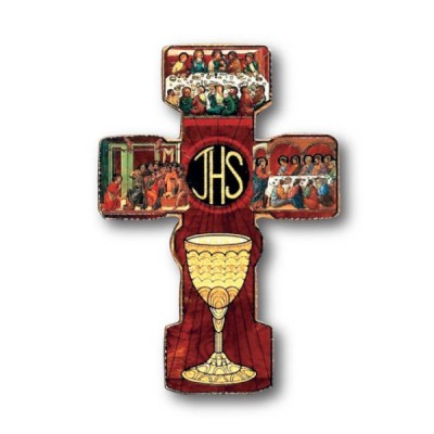 Cross:Wooden with Chalice Small
