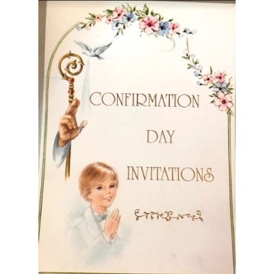 Writing Paper:Confirmation Boy Invite