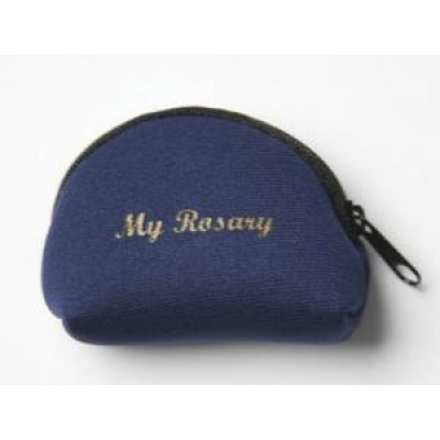 Rosary Purse:Neoprene Blue