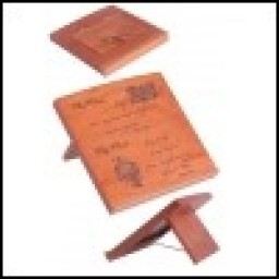 Bible Stand: Mahogany Solid with scripture verse