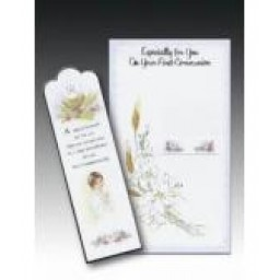 First Holy Communion Boy with Bookmark