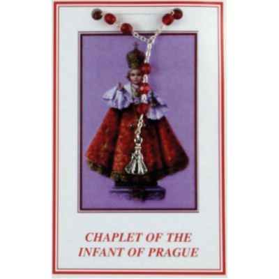 Chaplet Infant of Prague Red Crystal