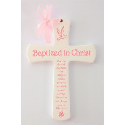 White Cross Baptism Girl