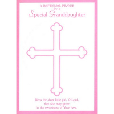 Card:Baptismal Prayer for a Special Grandaughter