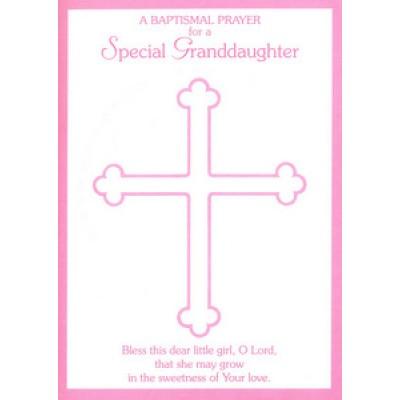 Card:Baptismal Prayer for a Special Grandaughter