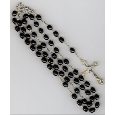 Rosary:Black wood bead