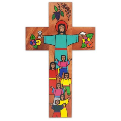 CROSS: Wood First Communion - made in El Salvador