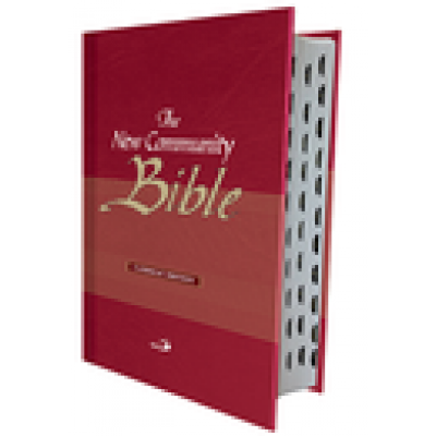 New Community Bible Red Hard Cover Indexed