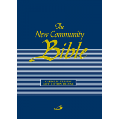 New Community Bible Gift Edition Deluxe with Zip Blue