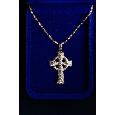 Cross Rose Gold Celtic with Chain