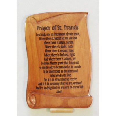 Mahogany Plaque:Prayer of St Francis