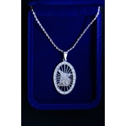 St Michael Archangel Medallion on Silver Cord Chain
