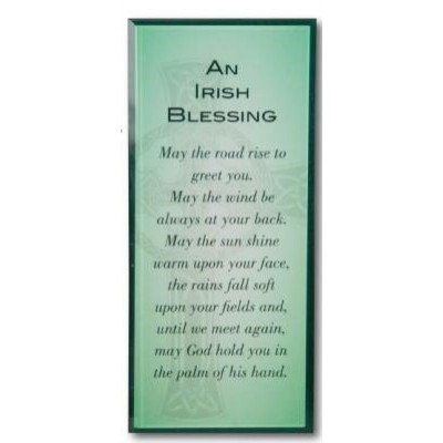 Plaque: Message in Glass -Home Blessing