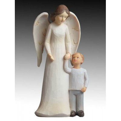 Statue:Guardian Angel with boy