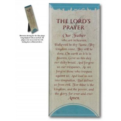Plaque: Message in Glass - The Lord's Prayer