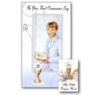 First Holy Communion Boy with Prayer Book