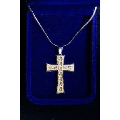 Gold Cross Coptic - Also in Rose Gold on matching chain
