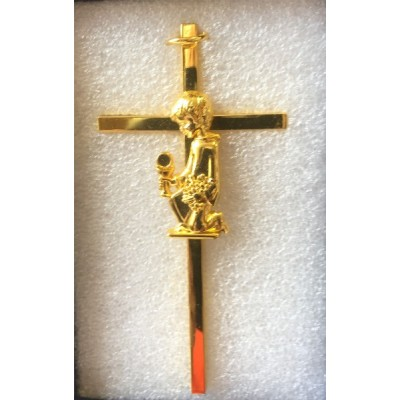Holy Communion gold plated Cross Boy