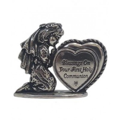 Communion Girl silver figurine