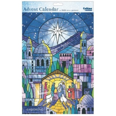 Stained Glass Nativity Calendar