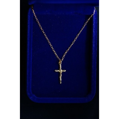 Crucifix Small Rose Gold with fine Chain