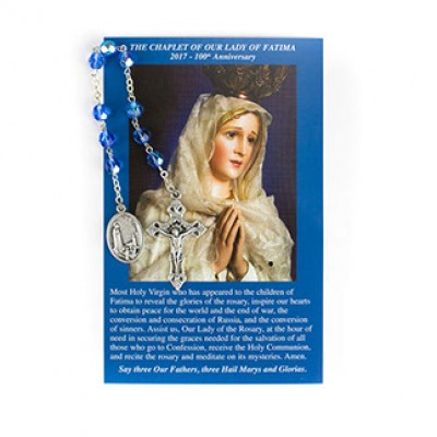 Chaplet Chrystal Our Lady of Fatima Eng/Spa