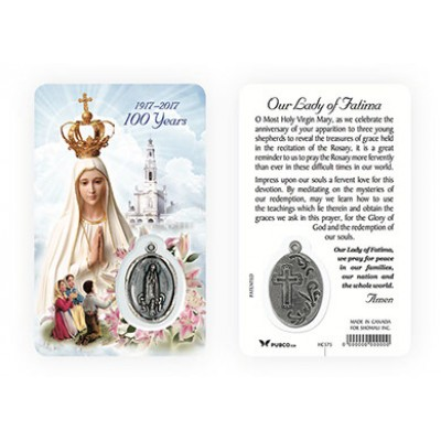 Laminated Card & Medal:Fatima
