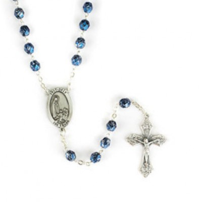Rosary:Our Lady of Fatima Blue Beads