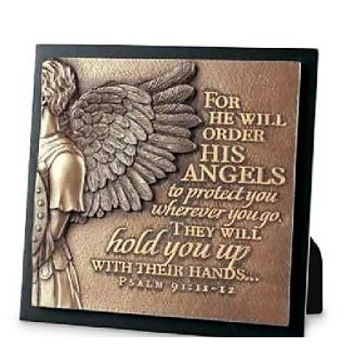 For He will order His Angels Plaque Ps 91:11-12