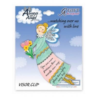 Sunvisor Clip:Artmetal Angel You are more precious