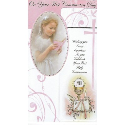 Card:Communion Girl with Bookmark