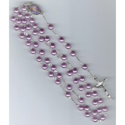 Rosary Glass Pearl Light Purple