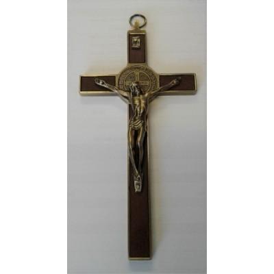 Crucifix St Benedict Wall Hanging Gold 20cm