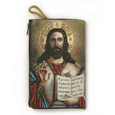 Rosary Purse Fabric-Pantocrator