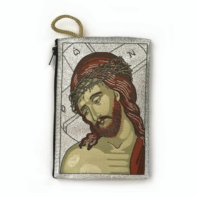 Rosary Purse Fabric Image Jesus Crown of Thorns