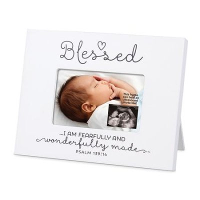 Blessed Sonogram Frame Psalm 139v14