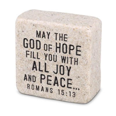Scripture Stone:Peace Romans 15:13