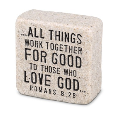 Scripture Stone: Believe Romans 8:28