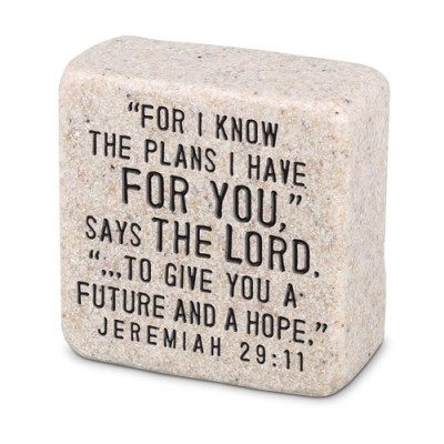 Scripture Stone: His Plans Jeremiah 29:11