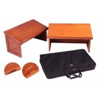 Mahogany Table Top Lectern In Portable Case