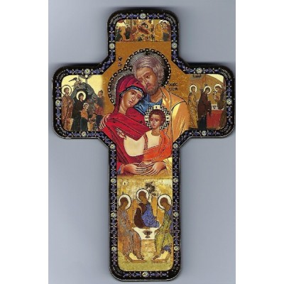 Cross Icon:Holy Family