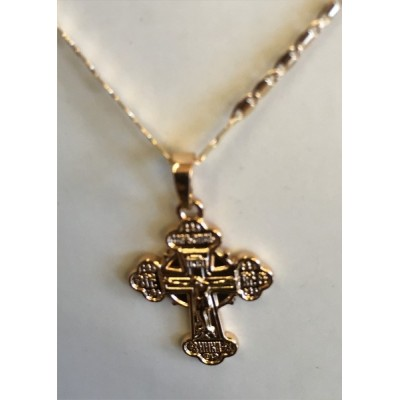 Gold Orthodox Crucifix & chain