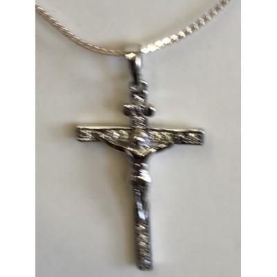Silver Crucifix & Chain