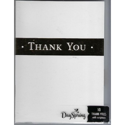 Card:Thank You  Gold Strip pkt of 10