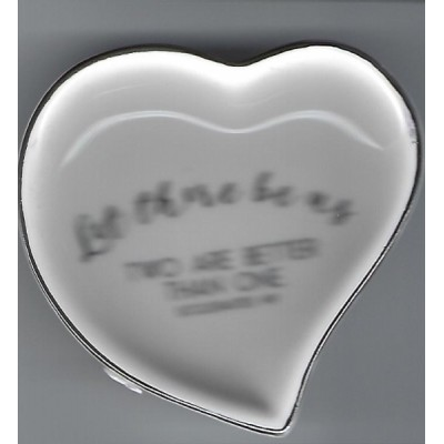 Ring Dish Ceramic:Let There Be Us Heart