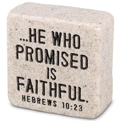Scripture Stone:Faithful Hebrews 10:23
