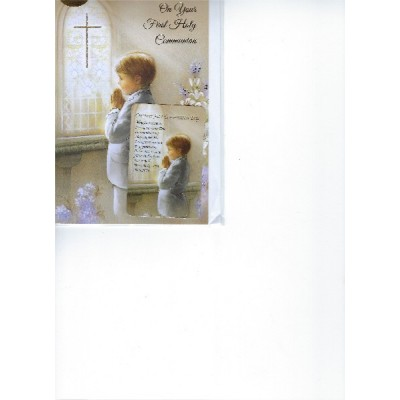 On Your First Holy Communion w prayer card